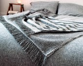 Handmade wool blanket couverture laine etsy
