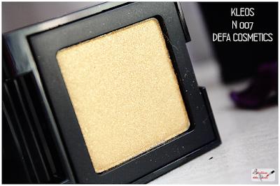 Makeup Defa Cosmetics , eyeshadow,  kleos , ombretto oro