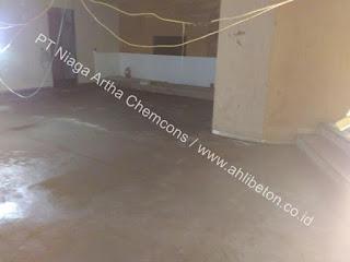 aplikasi perkuatan lantai beton