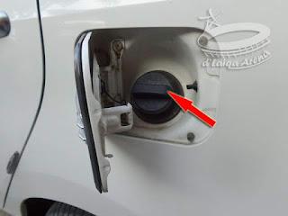 pintu bahan bakar telah terbuka
