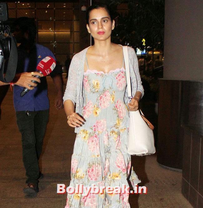 Kangana Ranaut, Elli, Deepika, Kangana Arrive Back From IIFA