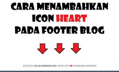 Cara Menambahkan Icon Heart Pada Footer Blog