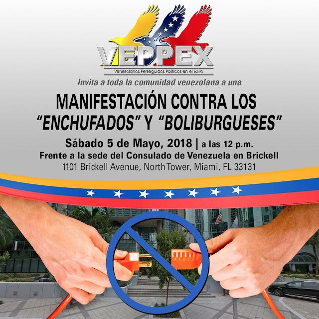 VEPPEX Manifestacion en contra de los enchufados y boliburgueses
