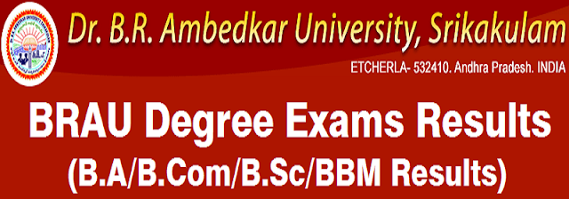 BRAU,Degree results,Ambedkar University results 2016