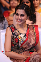 Tapsee Pannu Latest Stills in Red Silk Saree at Anando hma Pre Release Event .COM 0082.JPG