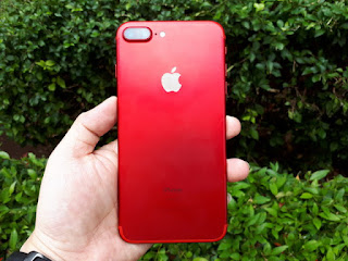 iPhone 7 Plus 256GB Merah Seken Sangat Mulus Fullset