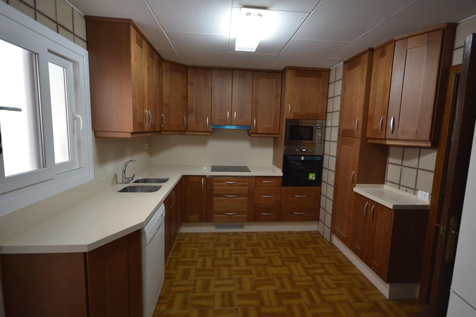 Reuscuina muebles de cocina de madera maciza con - Muebles de cocina madera maciza ...