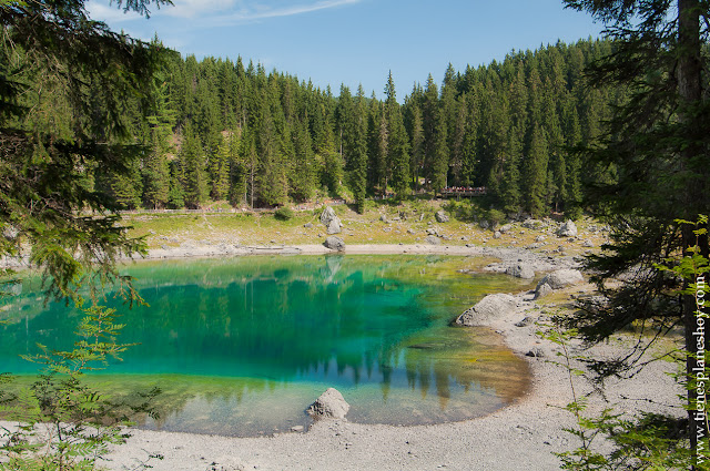 Karersee Lago di Carezza viaje a Dolomitas Italia