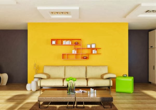 Yellow Feature Wall Living Room | Thecreativescientist.com