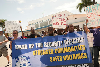 Miami officers accused Kent Security of underpaying them.