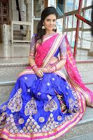 Sri Mukhi Latest Gorgeous Photo Shoot in Half Saree HeyAndhra