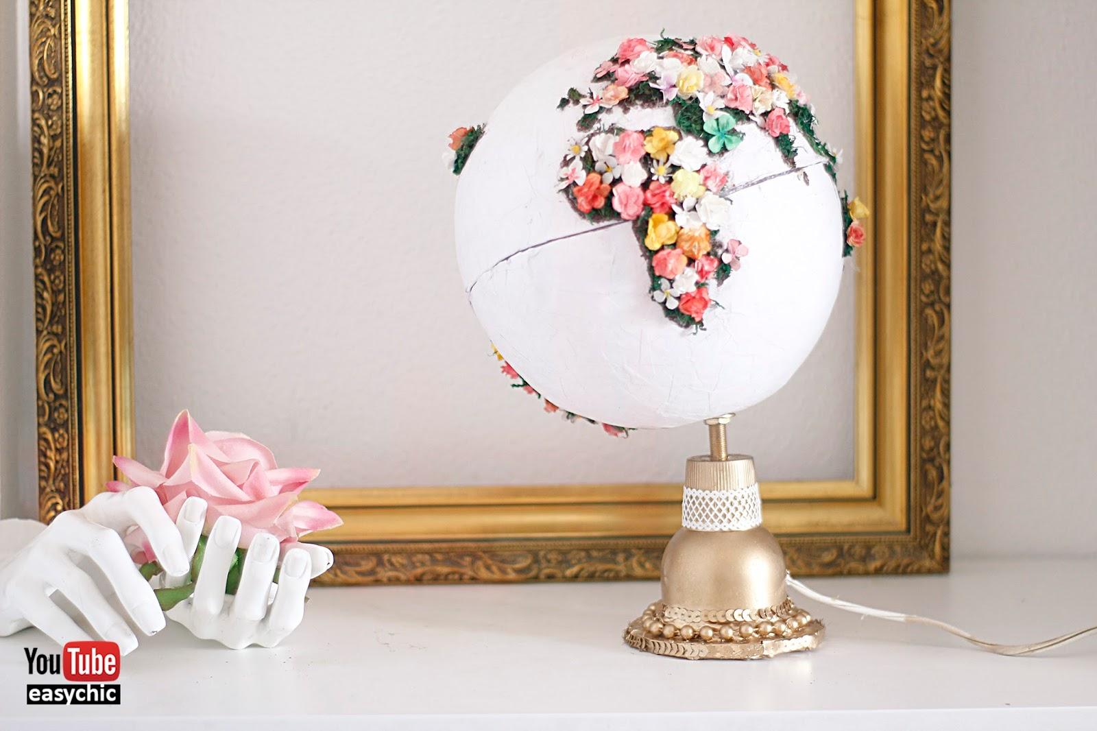 Easychic diadelatierra como hacer un globo terr queo for Reciclar cosas para decorar
