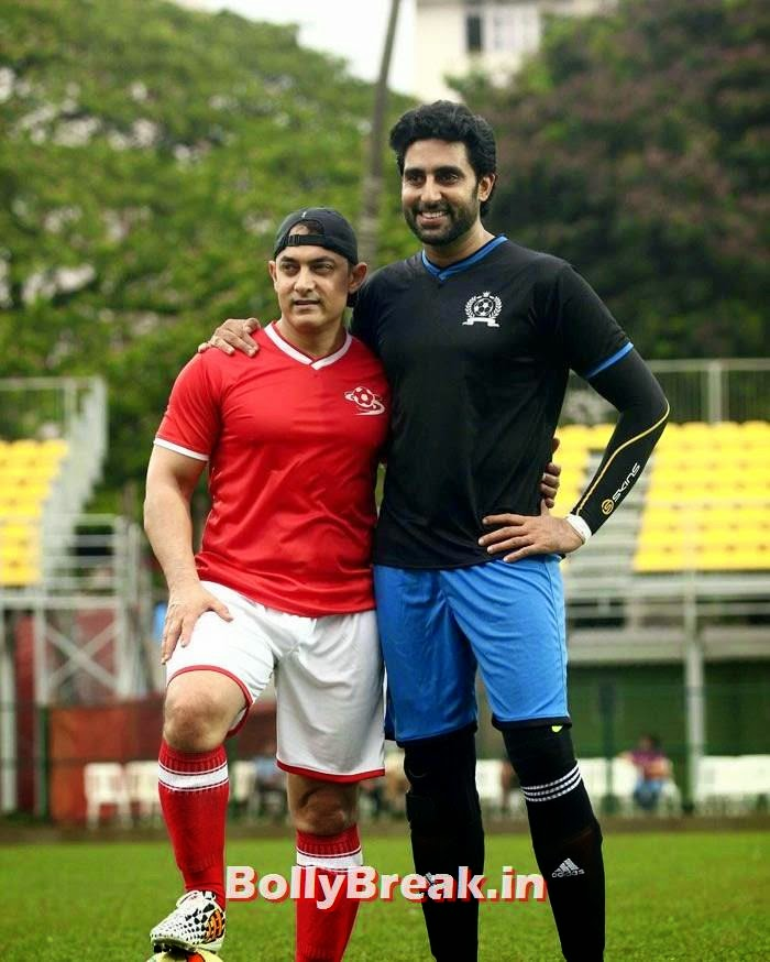 Aamir Khan, Abhishek Bachchan, Bollywood Celebs play football match for Aamir khan's daughter Ira Khan