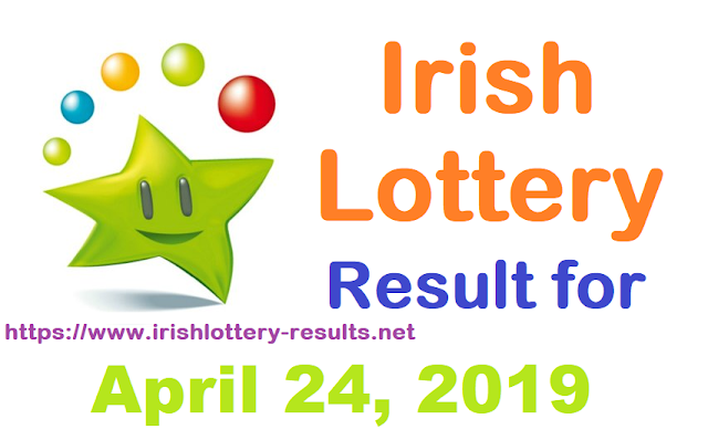 Irish Lottery Results for Wednesday, April 24, 2019