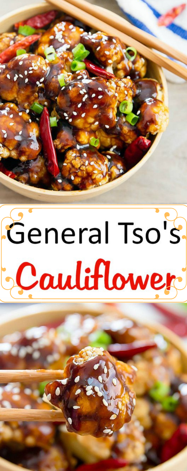 GENERAL TSO'S CAULIFLOWER #vegetarian #cauliflower