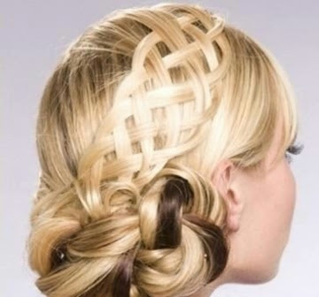 Model Basket Weave Hairdo