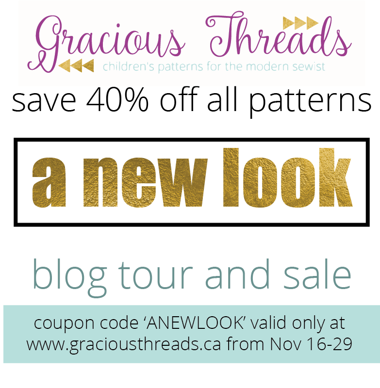 Gracious Threads A New Look Blog Tour Sewing By Ti