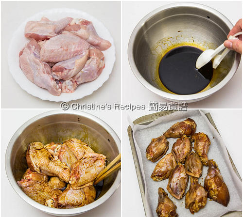 蜜糖薑汁焗雞翼製作圖 Hongey & Ginger Chicken Wings Procedures