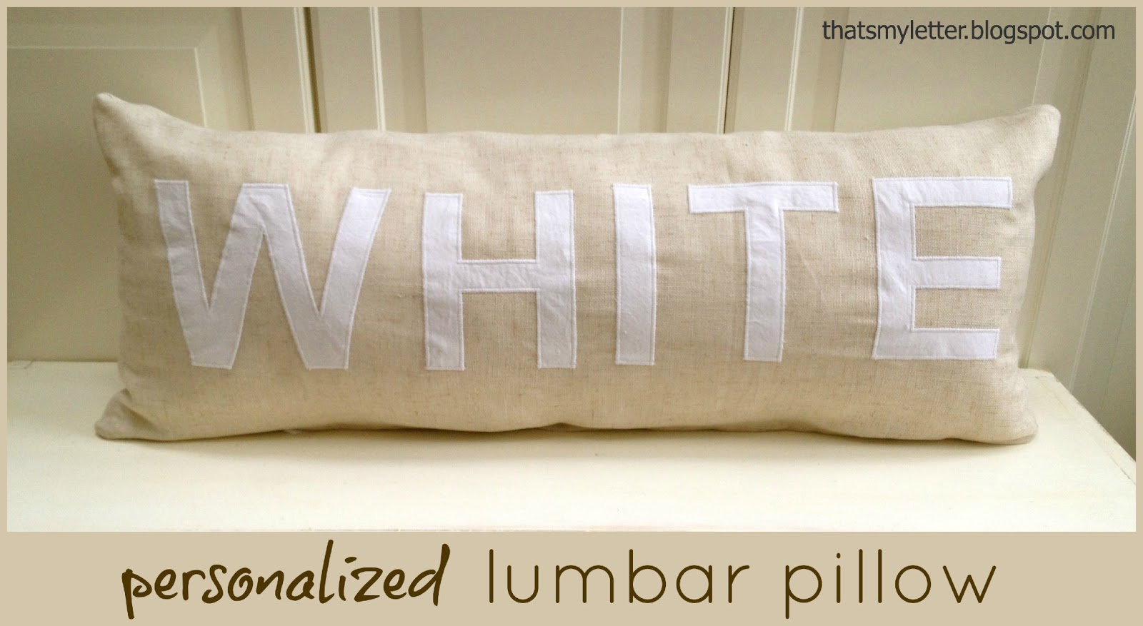 L is for Lumbar Pillow  Jaime Costiglio