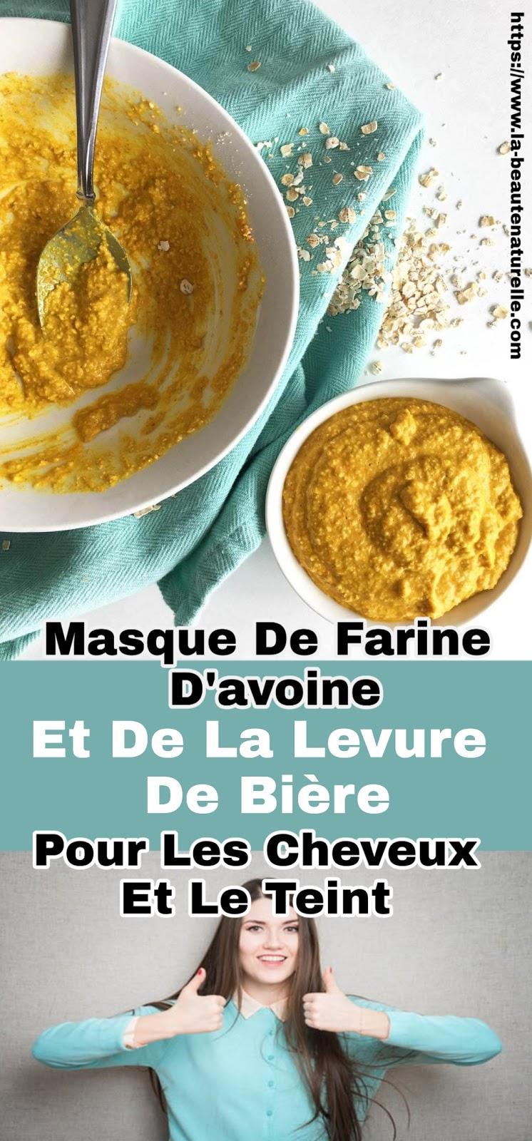 Masque De Farine D'avoine Et De La Levure De Bière Pour Les Cheveux Et Le Teint