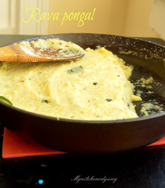 rava pongal recipe3