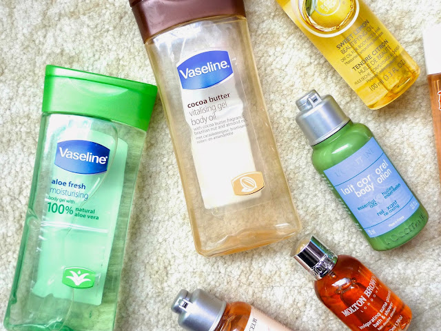 Bath and Body Oils | Why you should add oils to your body skincare routine, vaseline, bio-oil, the body shop, motor brown, lancome, l'occitane