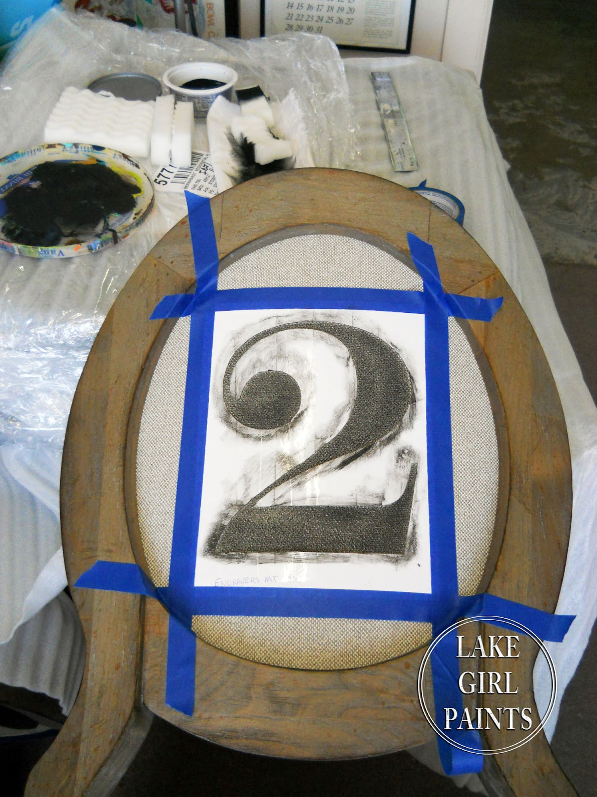 Lake Girl Paints How To Stencil Large Graphic Numbers On