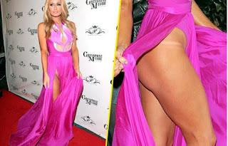 Paris Hilton sans culotte