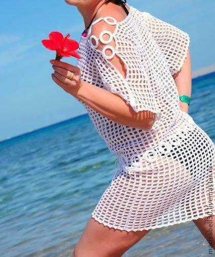 вязаная пляжная туника