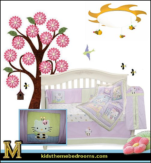 Hello Kitty bedroom ideas - Hello Kitty bedroom decor - Hello Kitty bedroom decorating - Hello Kitty bedroom furniture - Hello Kitty Wallpaper Mural - Hello Kitty Throw Pillows - Hello Kitty bedding - Hello Kitty Rugs