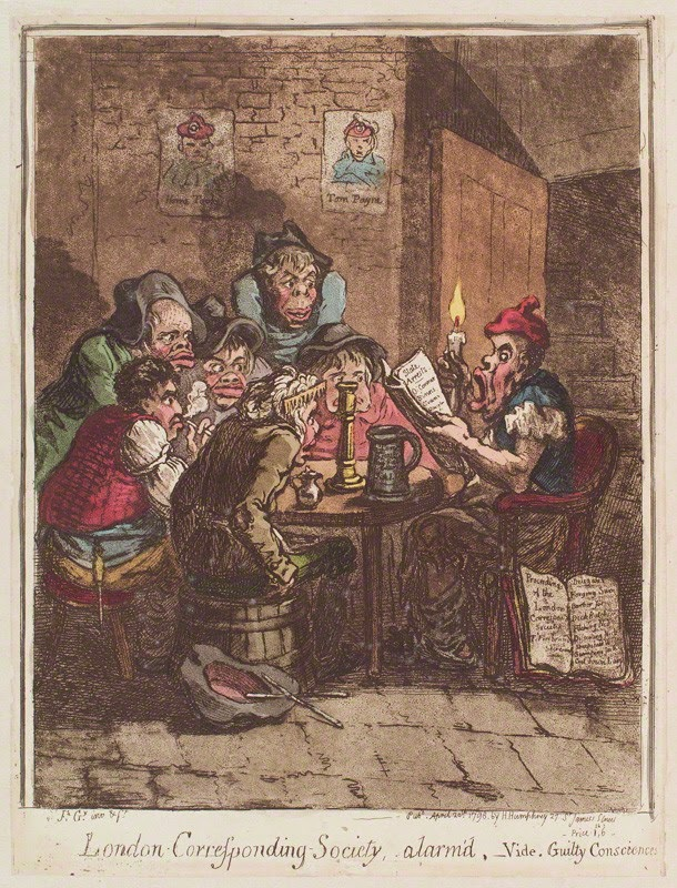 London Corresponding Society, alarm's' by James Gillray, 1798