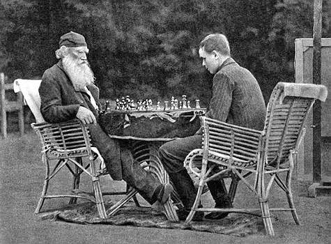 Leo Tolstoy playing chess