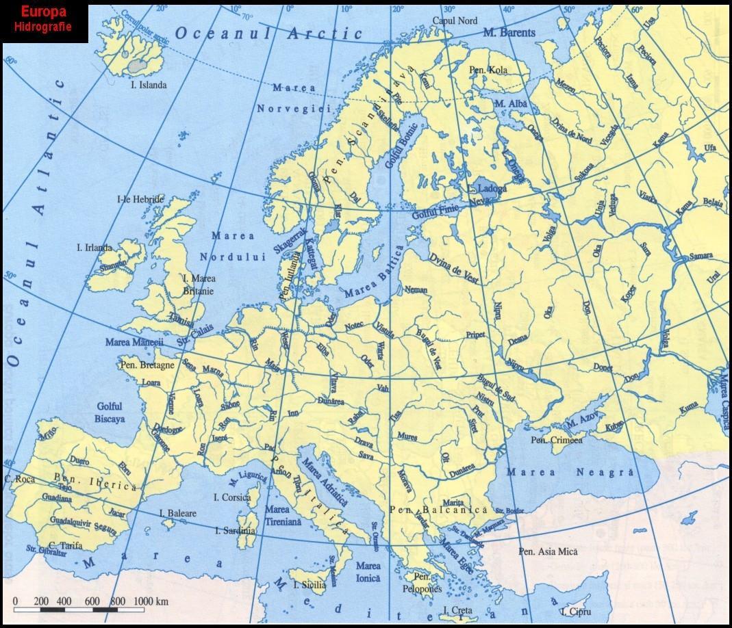 Geografilia Hărți Fizico Geografice Europa
