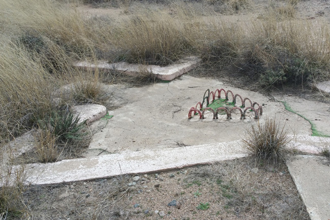 Abandoned miniature golf course in Willcox Arizona