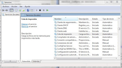 Servicios de Windows 7
