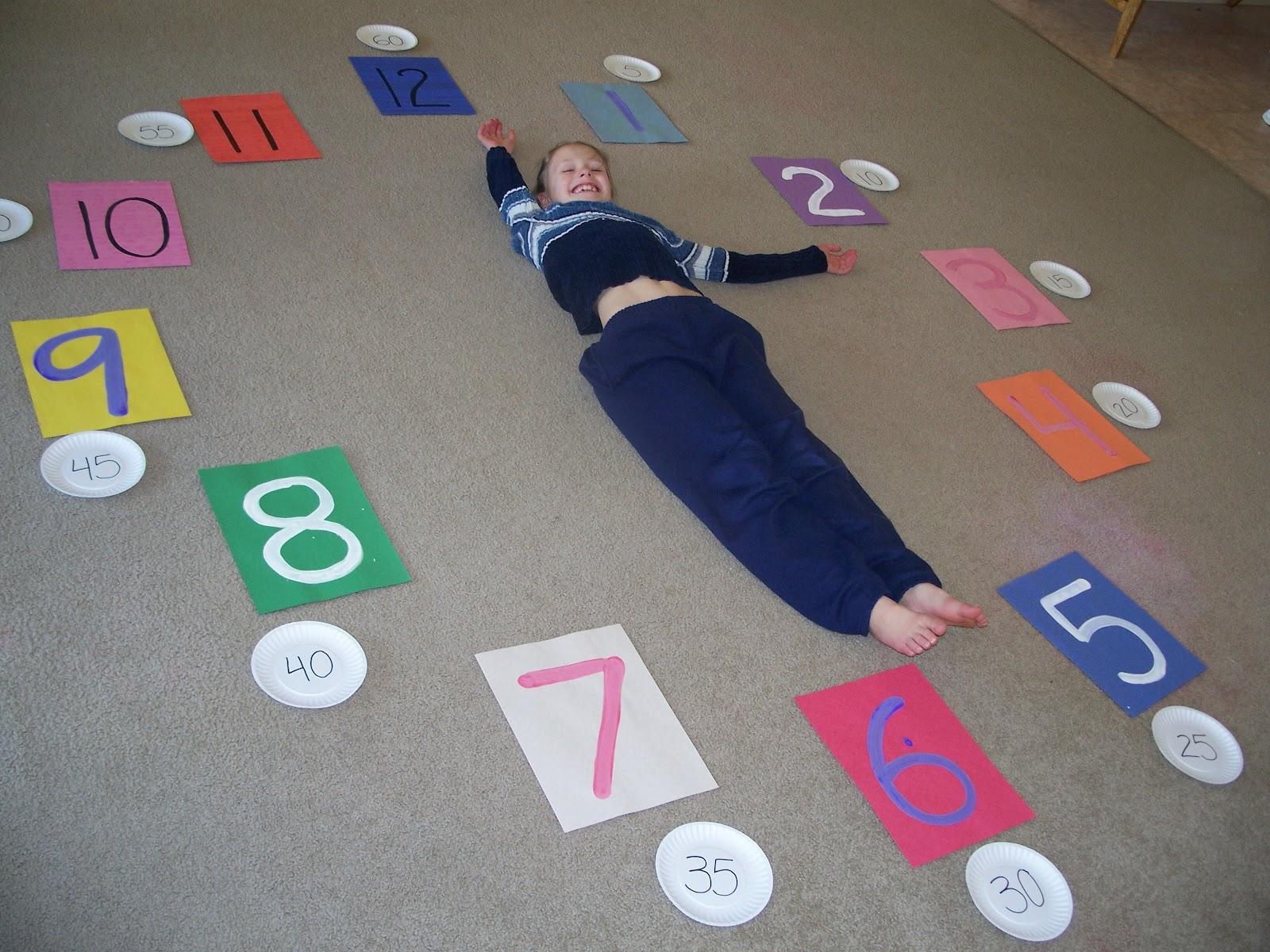 Our Fun Homeschool Human Clocks