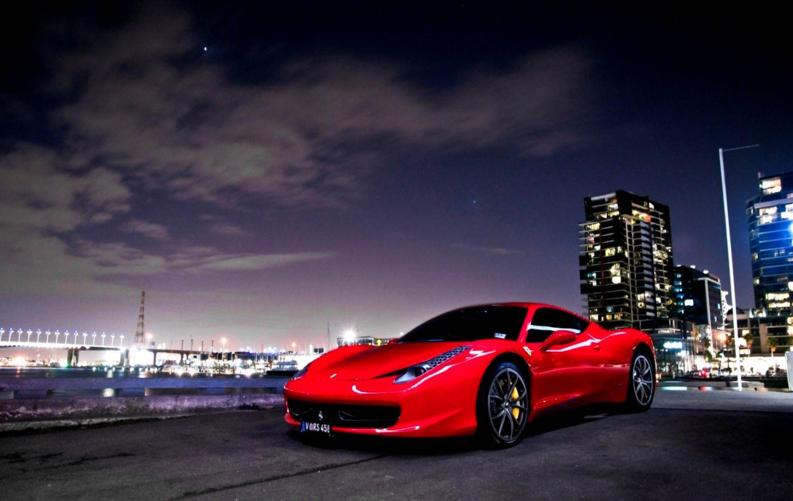 the latest 7610a 7d512 Ferrari 458 Italia Red Car Night wallpaper nature and landscape