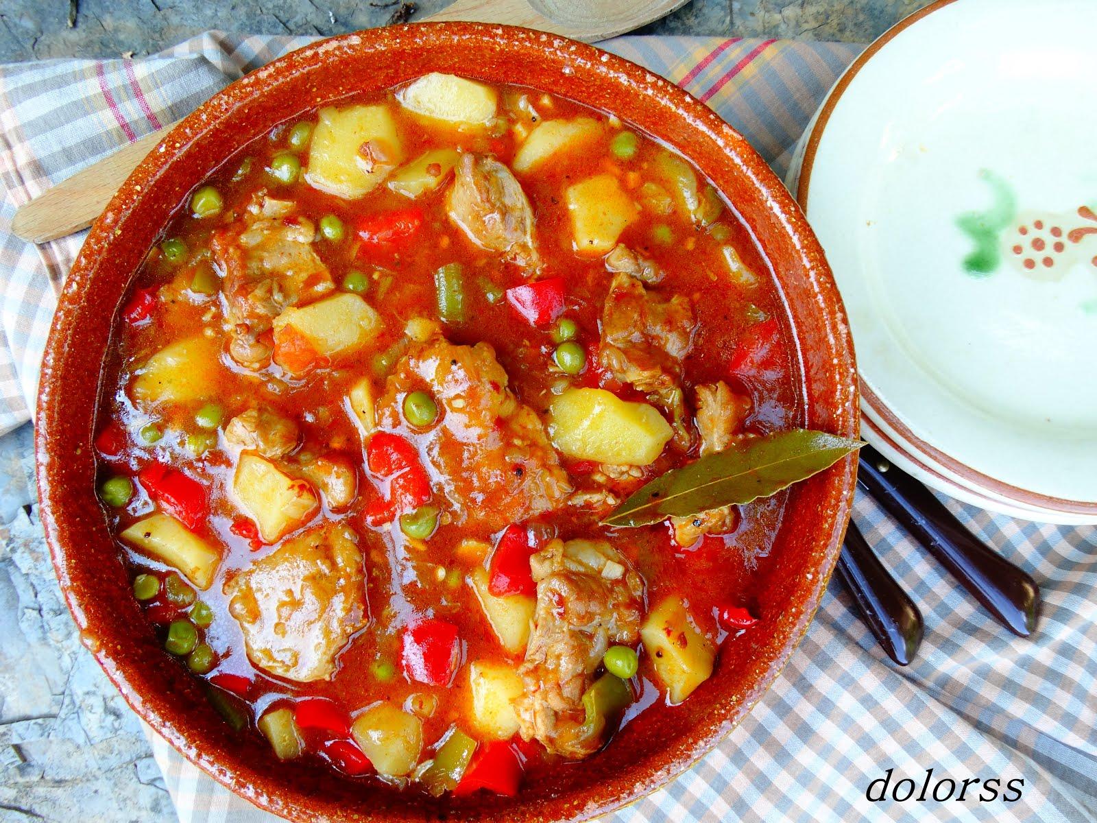 Blog de cuina de la dolorss guiso de costilla de cerdo con patatas y guisantes - Lentejas con costillas y patatas ...
