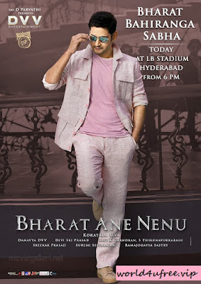 Bharat Ane Nenu 2018 Dual Audio ORG 720p UNCUT HDRip Download world4ufree.vip , South indian movie Bharat Ane Nenu 2018 hindi dubbed world4ufree.vip 720p hdrip webrip dvdrip 700mb brrip bluray free download or watch online at world4ufree.vip