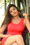 Poojitha sizzling in red dress-thumbnail-11