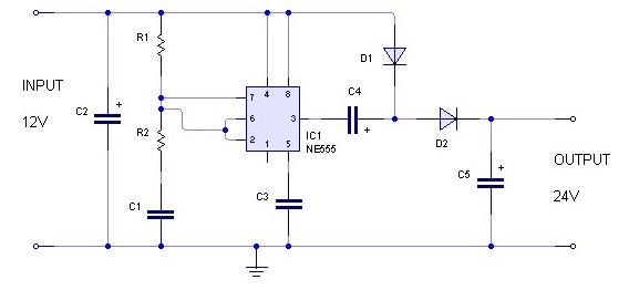 Rangkaian Sederhana Converter 12 Volt Dc Ke 24 Volt Dc Dengan Gambar