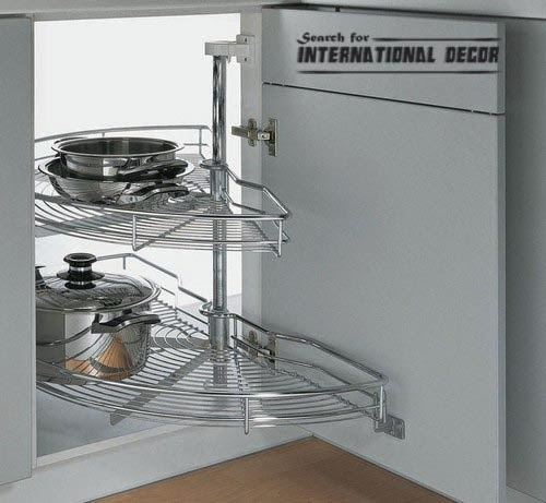 pull out drawers,pull out shelves, carousel system for kitchen