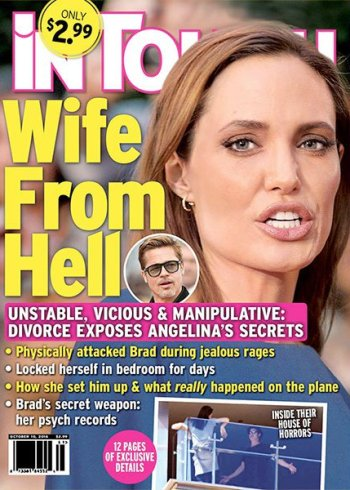 Angelina Jolie used to 'beat' Brad - & stayed in 'their own wings' at their mansion estate while their marriage fell apart