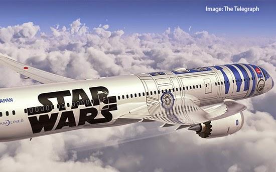 ANA Star Wars Plane R2-D2