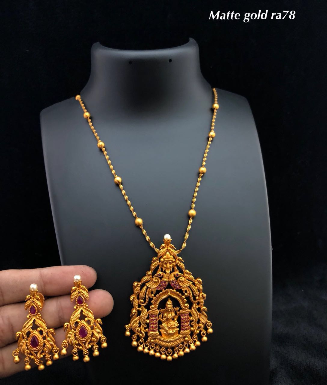 Designer 1 gram gold jewellery Elegant Fashion Wear