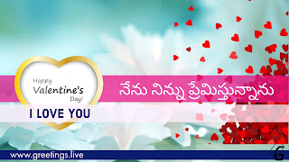 I Love You in Telugu love Greetings with love symbol