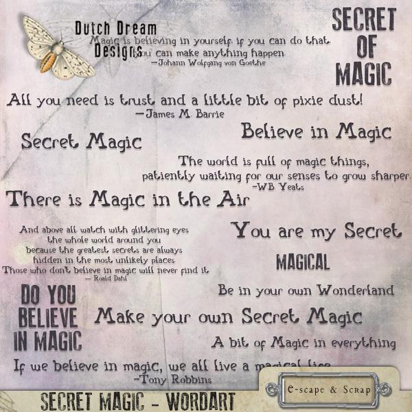 SECRET MAGIC WORDART
