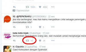 Cara Mengomentari Status di Twitter