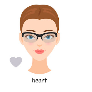 heart face shape glasses