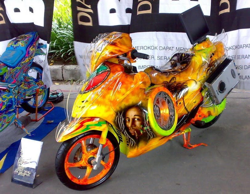 ide modifikasi mio m3 airbrush